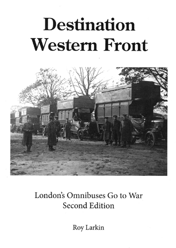 Front cover of Destination Western front book with buses