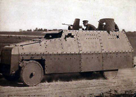 armoured lorry with crew