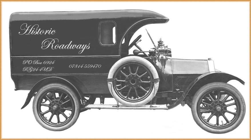 Small van with Historic Roadways signwriting
