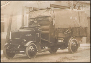 thornycroft subsidy lorry with driver