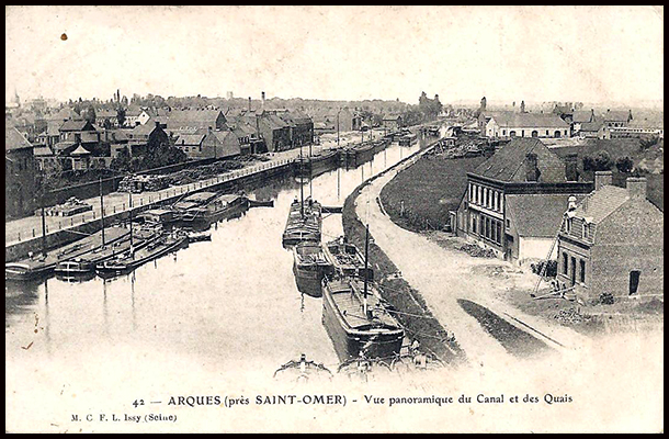 Arques canal and quays pre-ww1